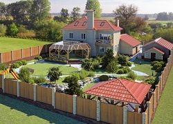 Планування заміського ділянки в 15 соток з будинком і садом