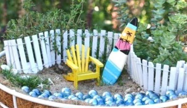 Пляж в саду