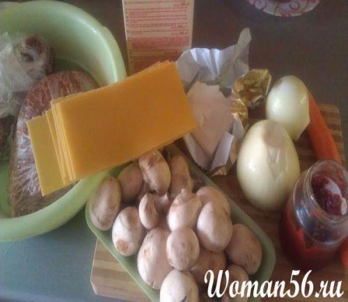 Рецепт лазаньї з фаршем і грибами