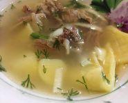 суп з м`яса півня