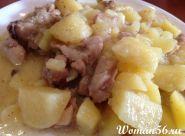 Рецепт тушкованої картоплі з куркою