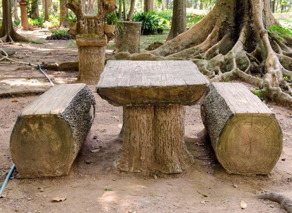 Садові меблі з колод