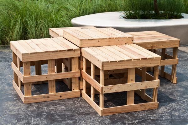Садові меблі з дощечок