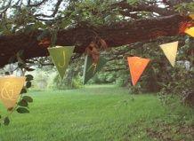Садові ліхтарі з жерстяних банок