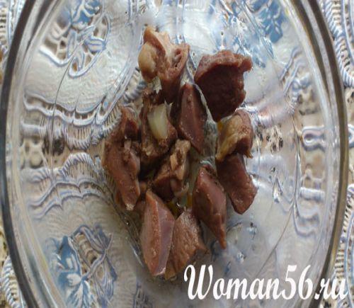 Салат зі свинячого серця