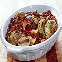 Салат кабачки і помідори, консервовані з грибами