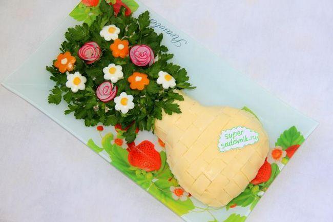 Салат весняний букет