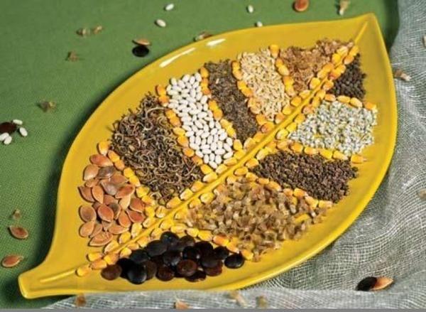Декор з насіння