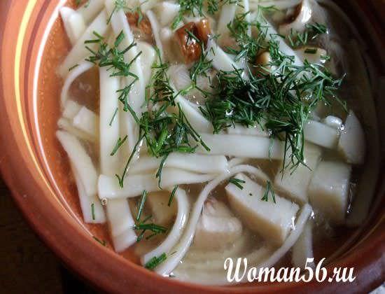 Суп з білих грибів
