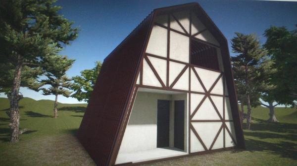 дизайн-проект будинку в стилі фахверк