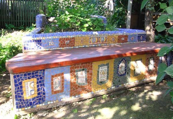 Лавка з мозаїкою своїми руками