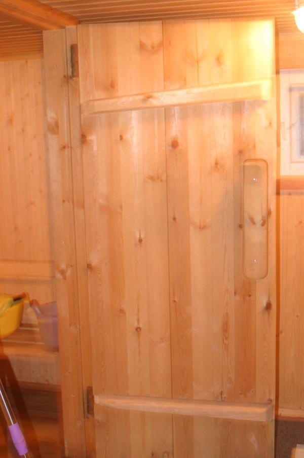 Вагонка в парильні і конструкція банної двері