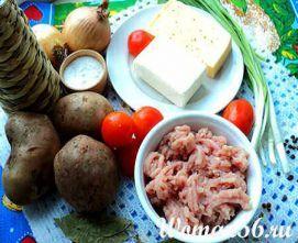 Запіканка з фаршем і картоплею