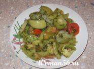 Зелені помідори салат на зиму